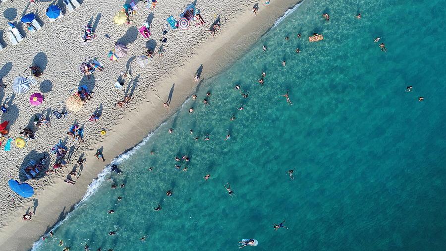 Aerial View Of Summer Sea Beach Photograph by Jasmin Merdan