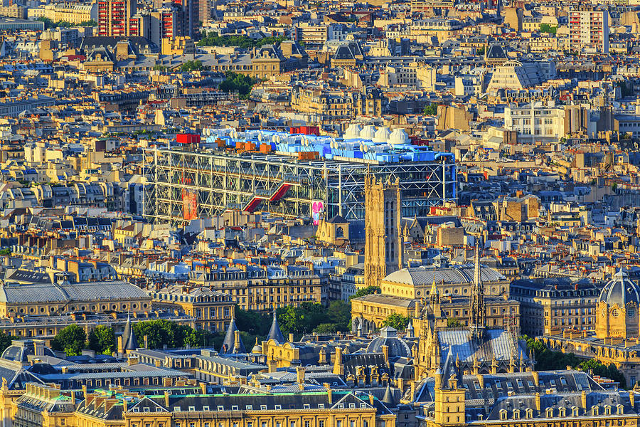 Aerial View On Paris Skyline Photograph by Pawel Libera