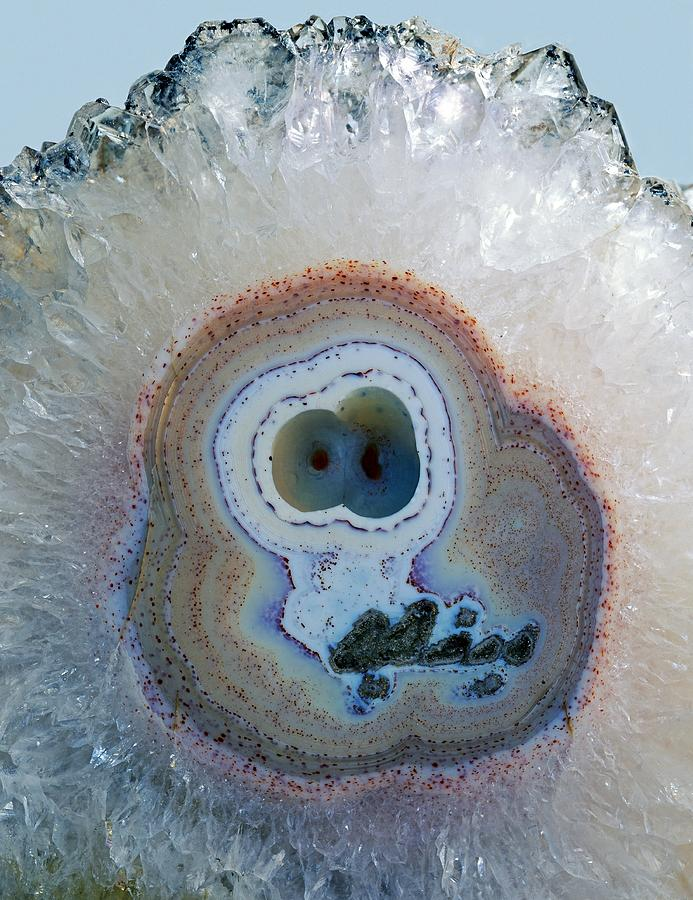 Agate Photograph - Agate Geode by Science Photo Library