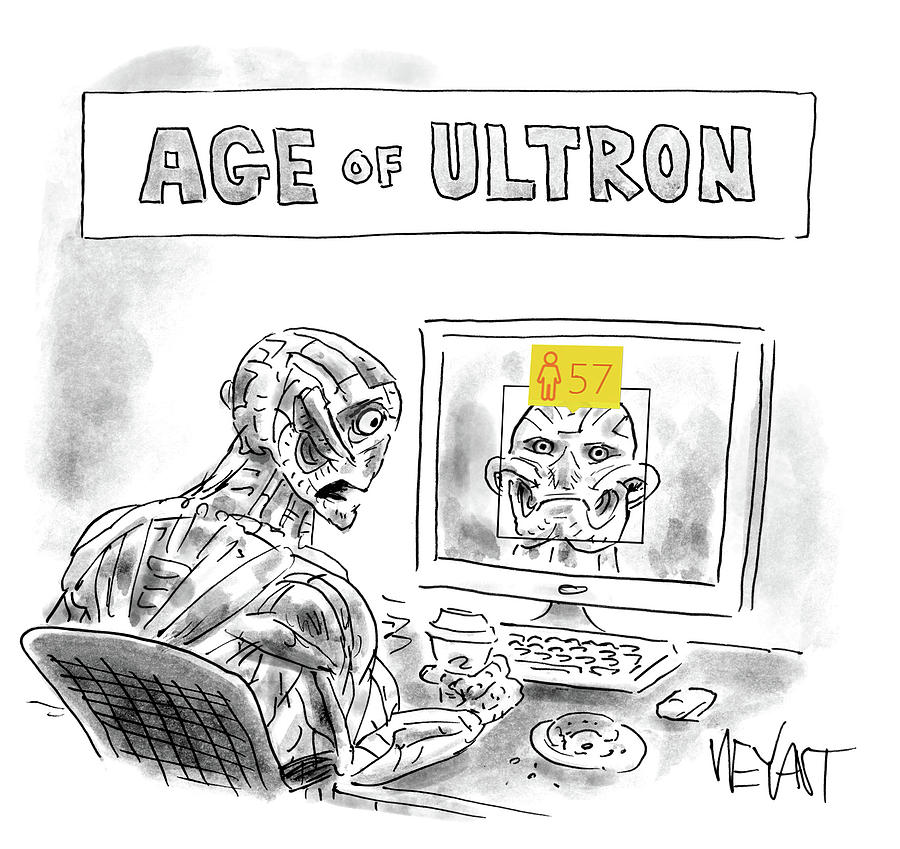 Age Of Ultron Drawing by Christopher Weyant