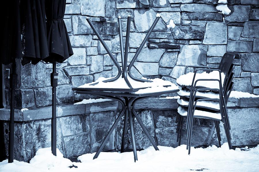 Snow Photograph - Al Fresco by Denice Breaux