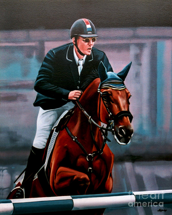Sport Painting - Albert Zoer And Sam by Paul Meijering