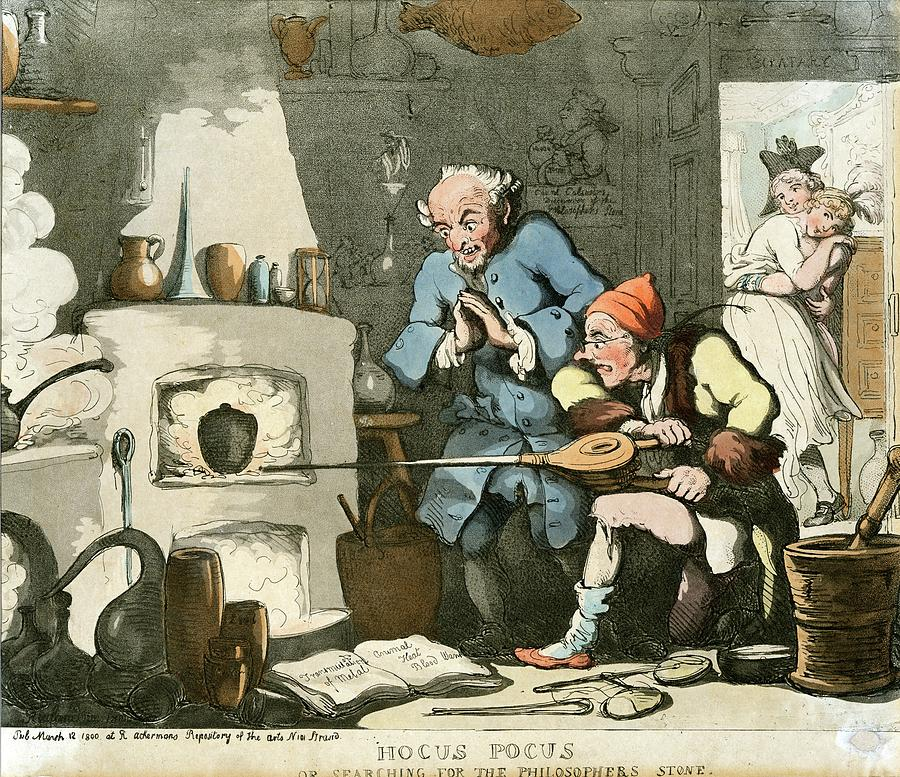 Hocus Pocus Photograph - Alchemist At Work by Chemical Heritage Foundation/science Photo Library