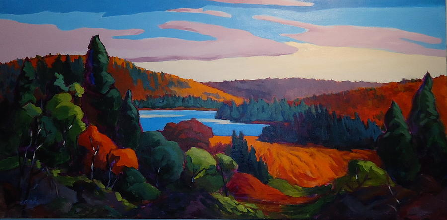 Algonquin Panorama Painting By Edward Abela