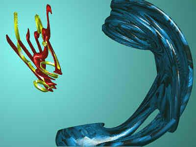 Postmodern Digital Art - Algorhitmic Abstraction B03 by Teo Spiller