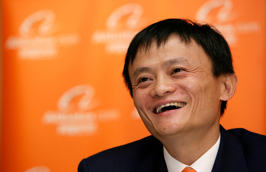 Alibaba Group Holdings Ltd. and Founder Jack Ma As Company Files for U.S. Initial Public Offering of E-Commerce Giant Photograph by Bloomberg