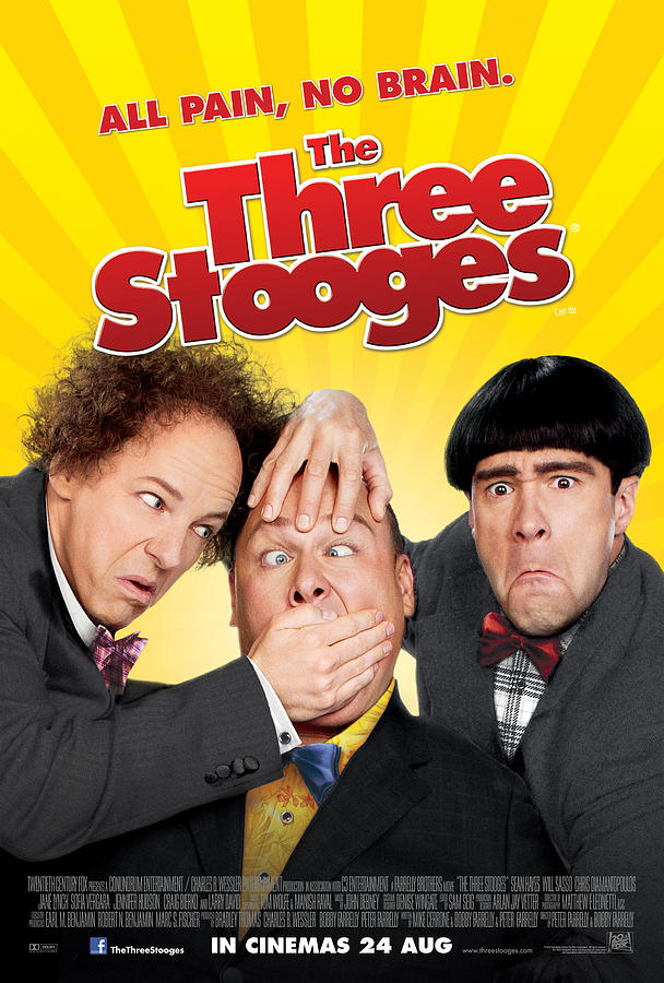 The Three Stooges Digital Art - All Pain No Brain by The Three Stooges Movie