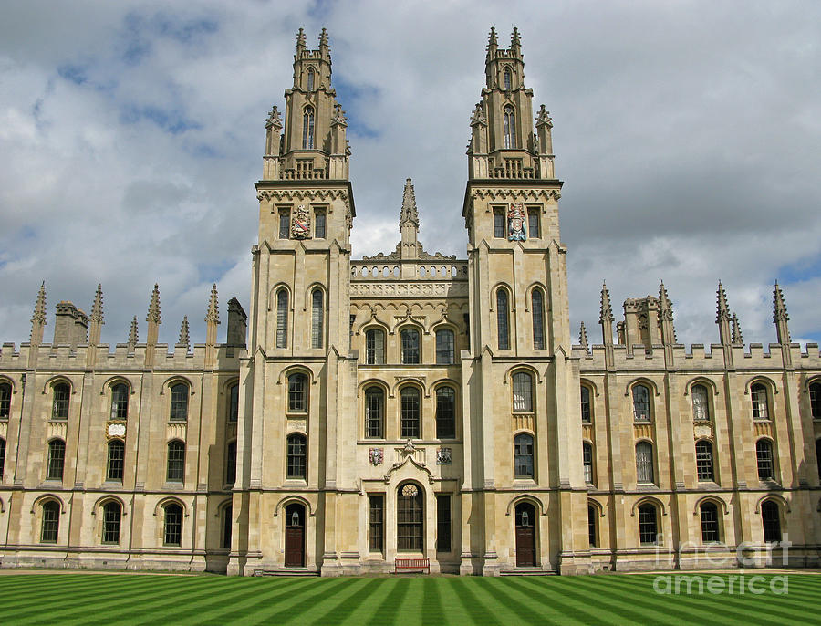 Oxford Photograph - All Souls Oxford by Ann Horn