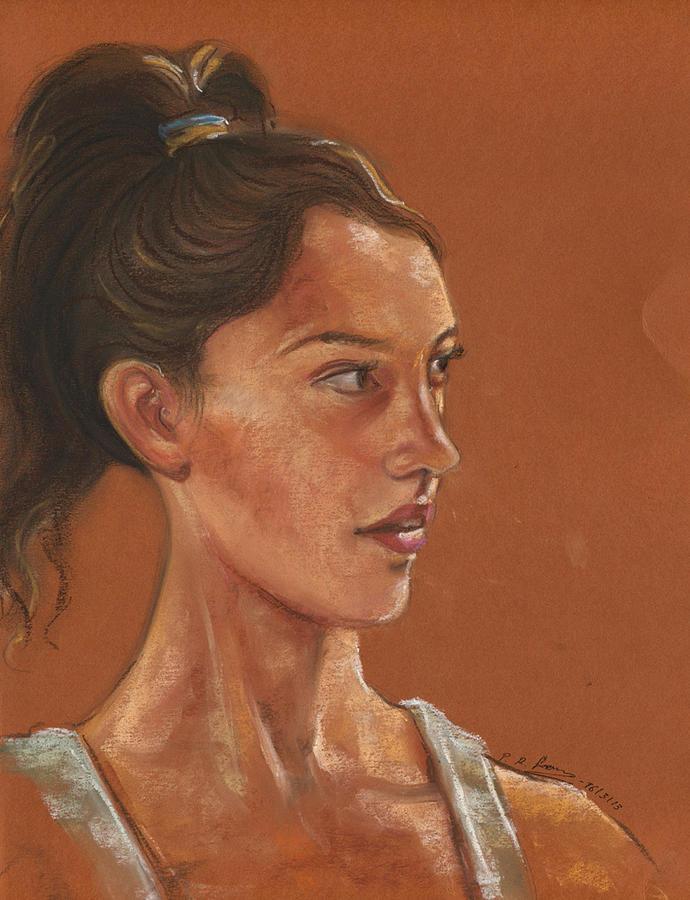Portrait Pastel - Allisonstokke by Prakash Leuva