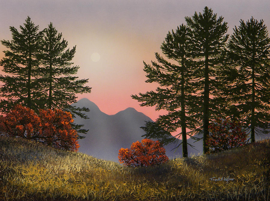 Mountains Painting - Alpine View by Frank Wilson