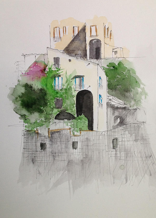 Amalfi Painting by Gianni Raineri