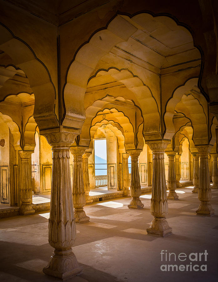 Amber Fort Photograph - Amber Fort Arches by Inge Johnsson