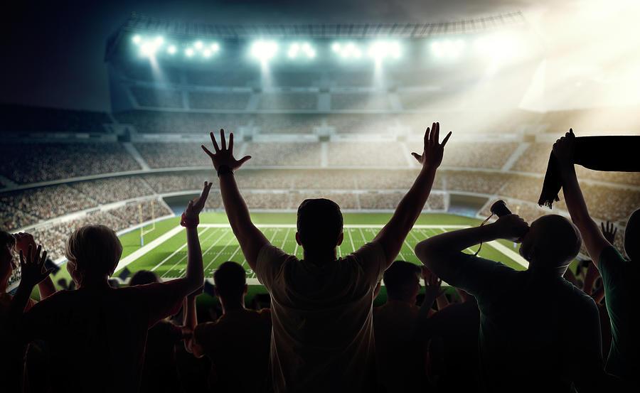 American Football Fans At Stadium Photograph by Dmytro Aksonov