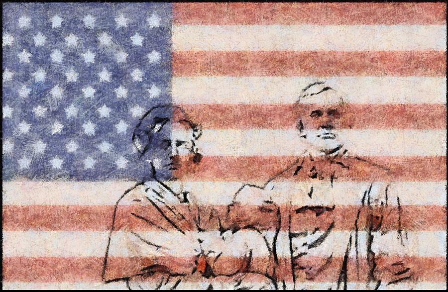 American Patriots Painting - American Patriots by Dan Sproul
