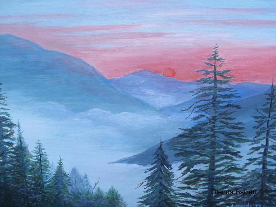 Original Painting - An Appalachian Morning by Glenda Barrett