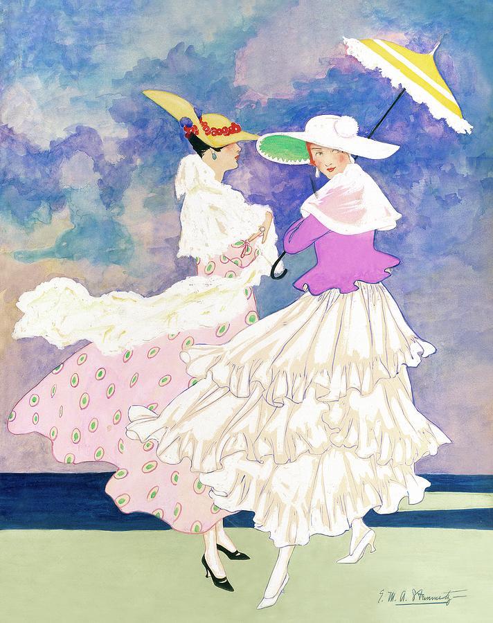 An Illustration For Vogue Magazine Digital Art by E.M.A. Steinmetz