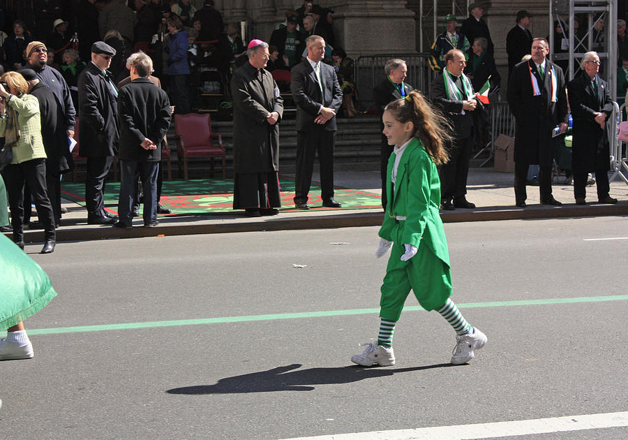 Child Photograph - An Irish Lassie Marching In The 2009 St. Patrick Day Parade by James Connor