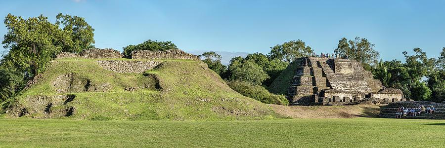 Horizontal Photograph - Ancient Mayan Ruins, Altun Ha, Belize by Panoramic Images