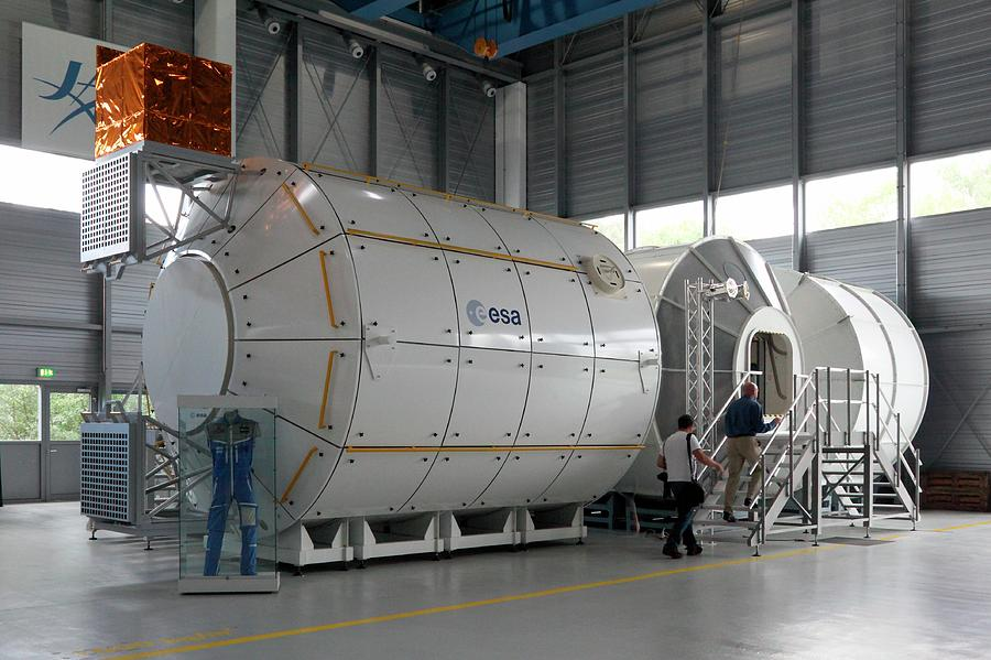 21st Century Photograph - Andre Kuipers And Iss Colombus Simulator by Detlev Van Ravenswaay