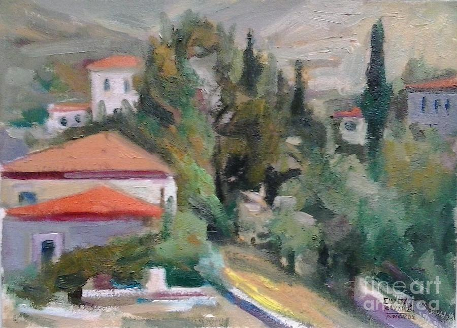 Andros.andros Island.andros Geek Island.greek Islands. Painting - Andros by George Siaba