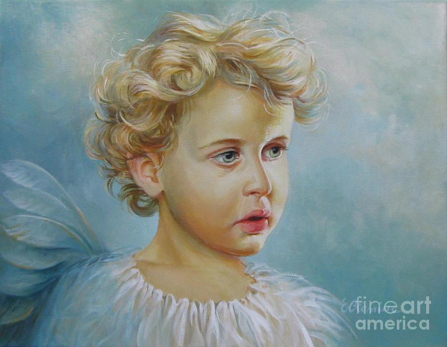 Angel Painting - Angel by Elena Oleniuc