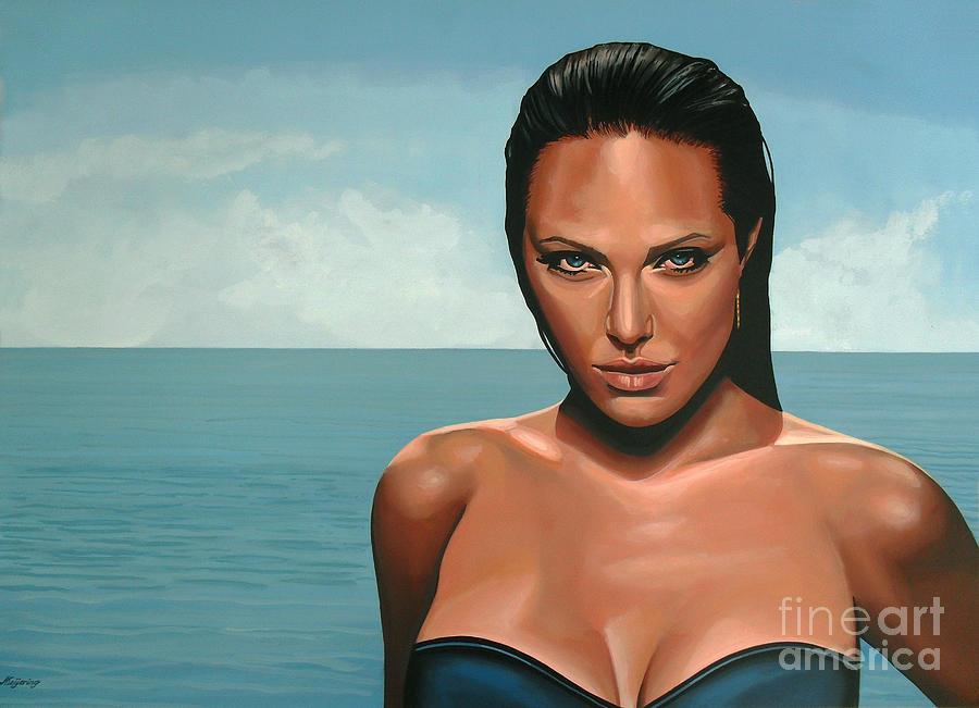 Angelina Jolie Painting - Angelina Jolie by Paul Meijering