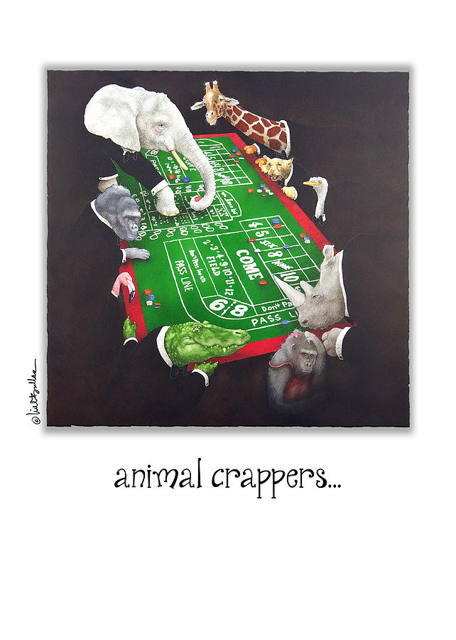 Will Bullas Painting - Animal Crappers... by Will Bullas