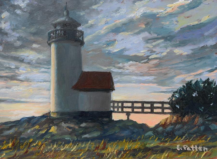 Lighthouse Painting - Annisquam Light by Eileen Patten Oliver