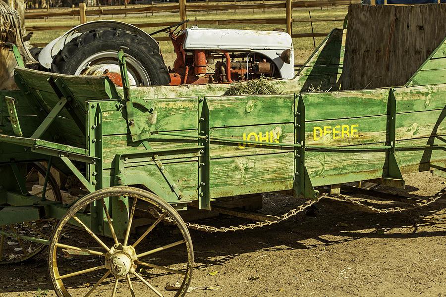 John Deere Manure Spreader : Antique john deere manure spreader photograph by david