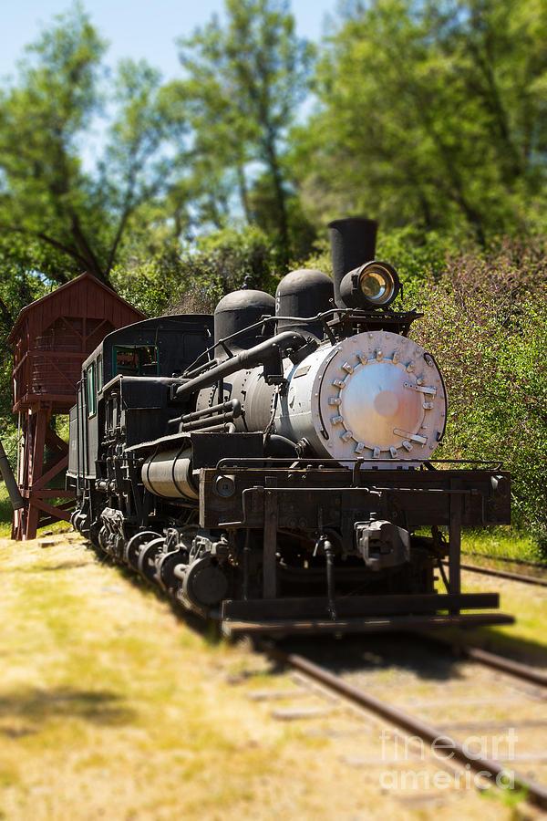 Train Photograph - Antique Locomotive by Jane Rix