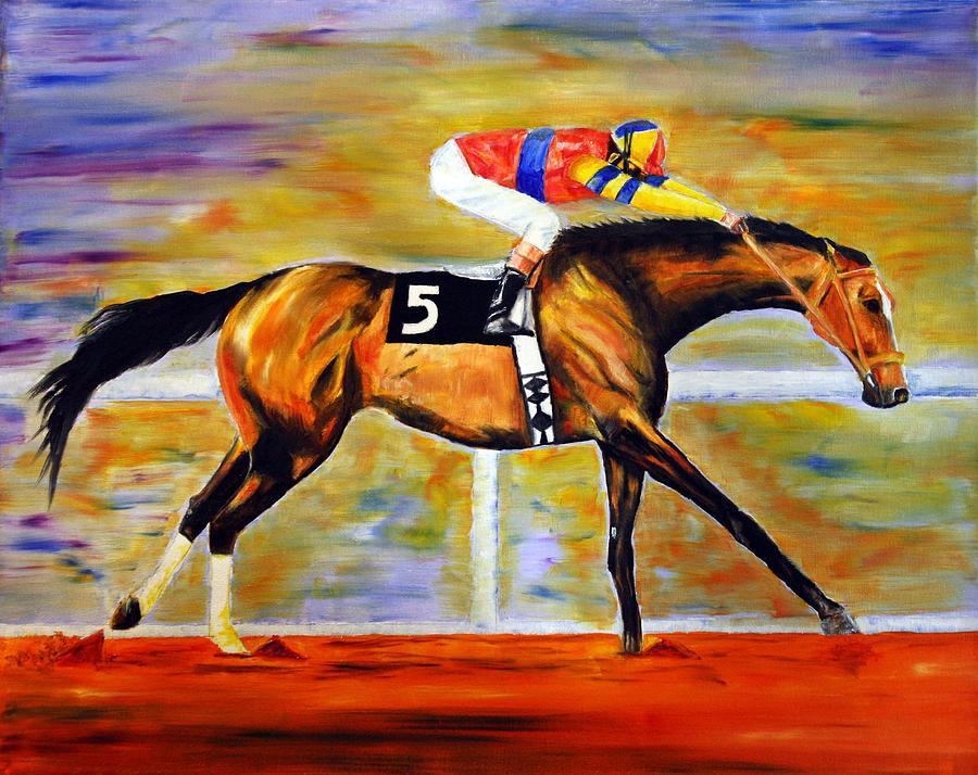 Ap Indy Painting - Ap Indy by Jennifer Godshalk