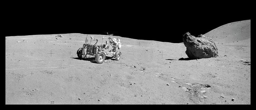 1900s Photograph - Apollo 16 Lunar Rover by Nasa/detlev Van Ravenswaay