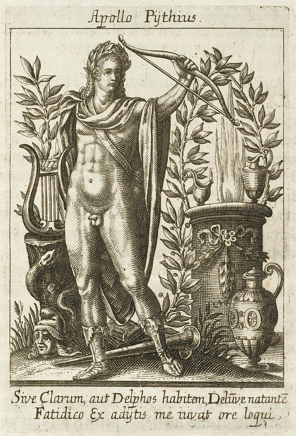 Apollo Drawing - Apollo Pythias, The Greek God by Mary Evans Picture Library
