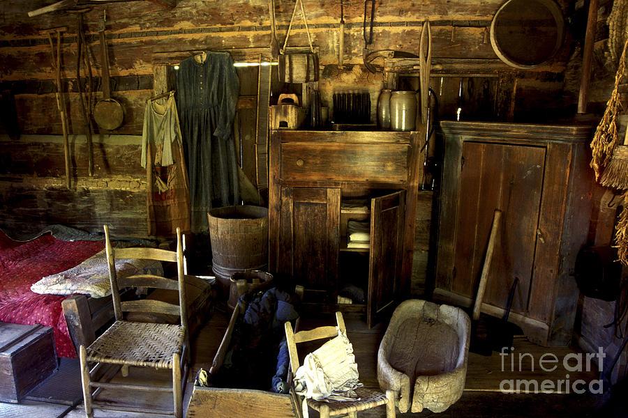 Appalachian Log Cabin Photograph - Appalachian Mountain Log Cabin by Paul W Faust -  Impressions of Light