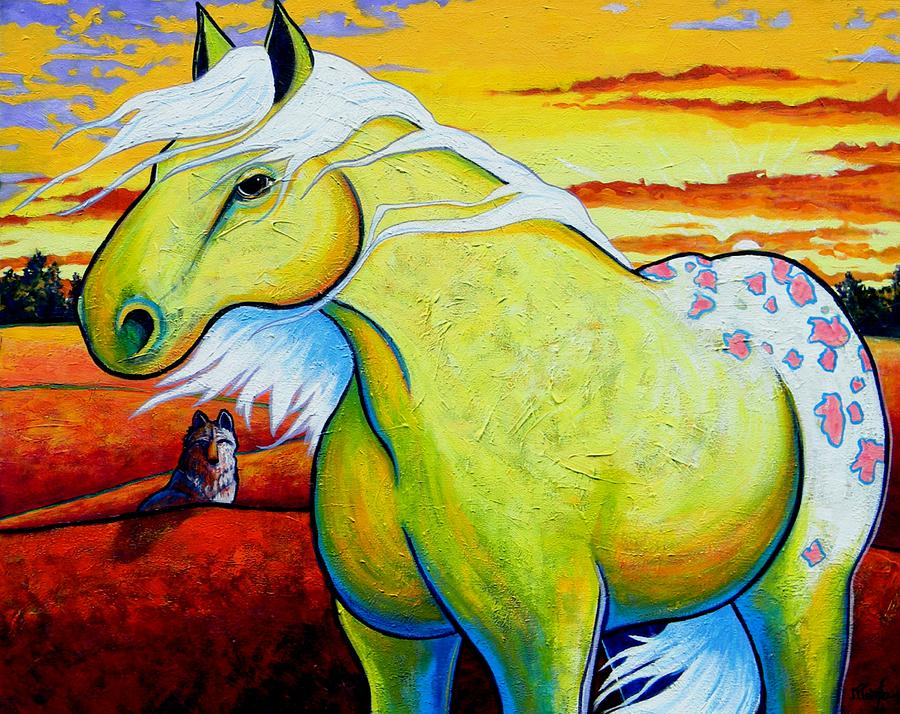 Wildlife Painting - Appaloosa Dawn by Joe  Triano