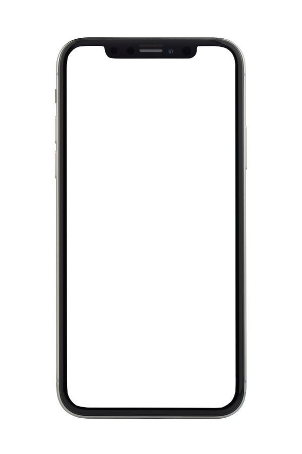 Apple iPhone X Silver White Blank Screen Photograph by Bombuscreative