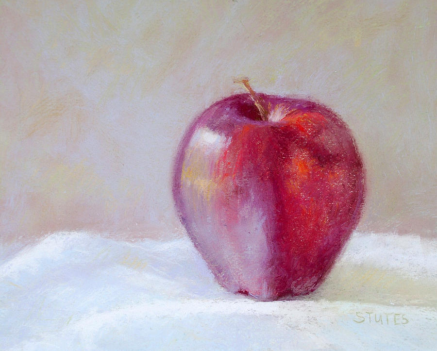 Still Life Drawing - Apple by Nancy Stutes