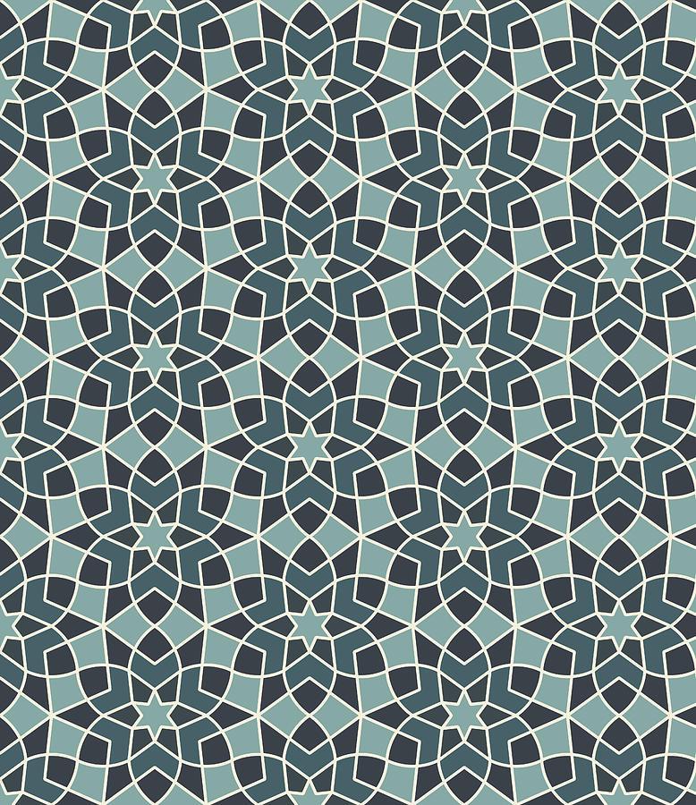 Arabesque Seamless Pattern Digital Art