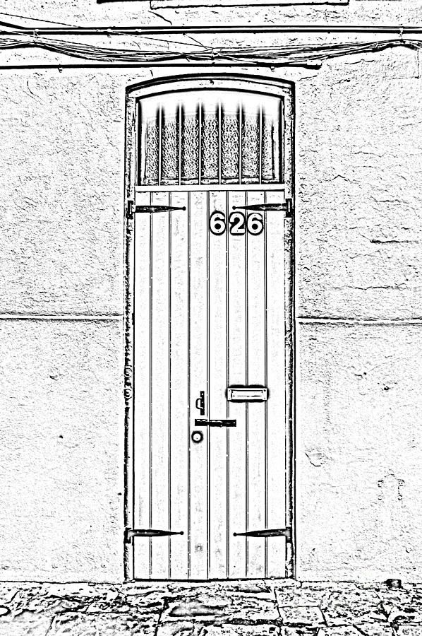 New Orleans Photograph - Arched Doorway French Quarter New Orleans Photocopy Digital Art by Shawn OBrien