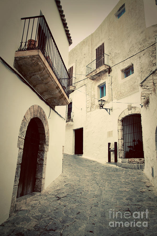 Architecture Of Old City Of Ibiza Spain Photograph