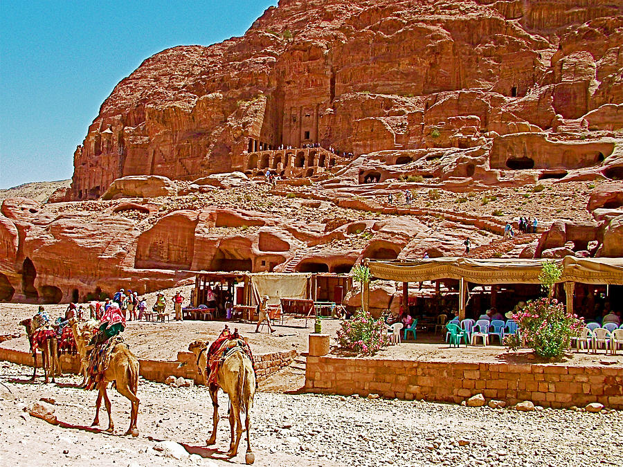 Jordan Photograph - Area In Front Of Tombs Of The Kings In Petra-jordan by Ruth Hager