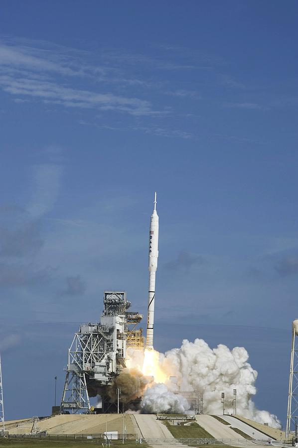 2009 Photograph - Ares I-x Test Rocket Launch by Science Photo Library