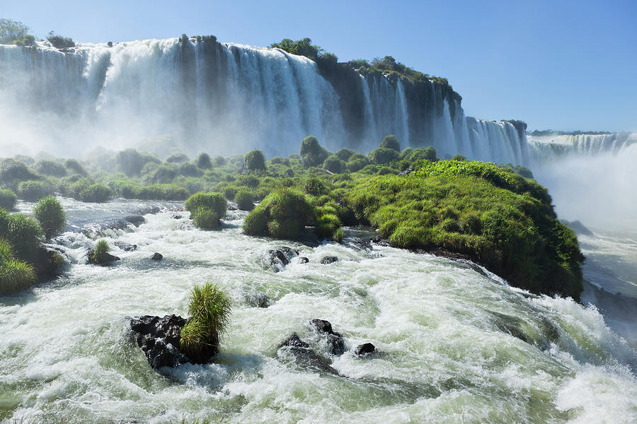 Argentina Iguazu Waterfalls Garganta Photograph by Grafissimo