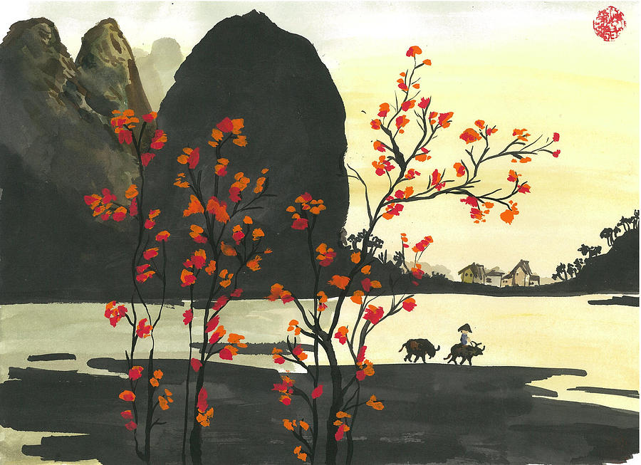 Landscape Painting - Arrival Of Spring by Amberlyn How