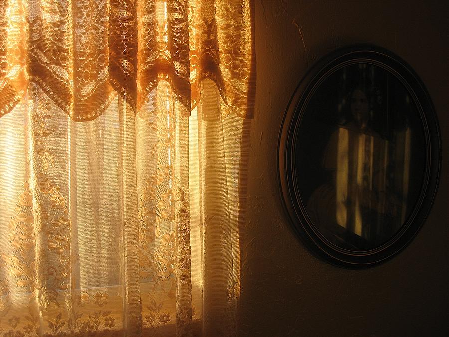 Art Homage Edward Hopper Winter Light Window Curtain Reflection Bedroom Casa Grande Arizona 2005 Photograph by David Lee Guss