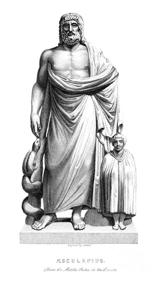 Aesculapius Photograph - Asklepios by Granger