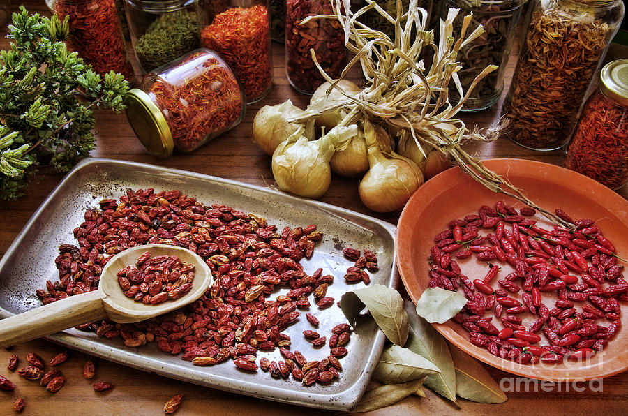 Aromatic Photograph - Assorted Spices by Carlos Caetano