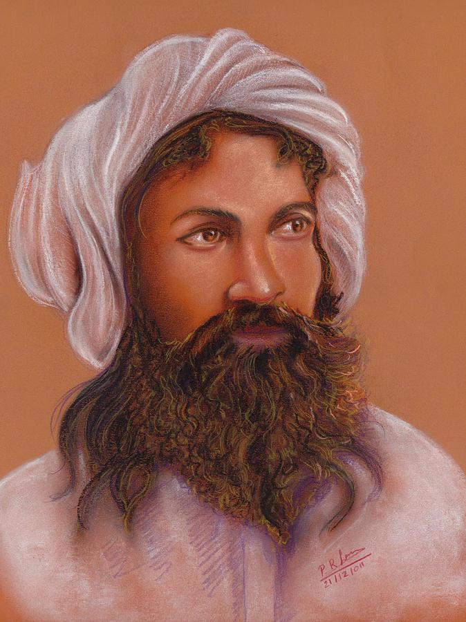 Portrait Pastel - Astrologer by Prakash Leuva