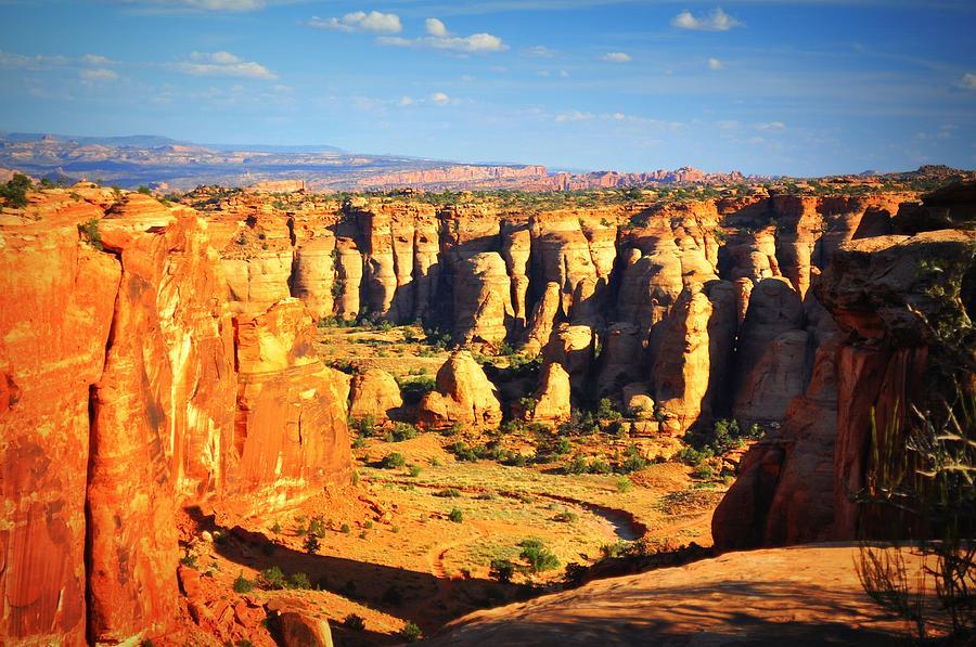 Canyon Photograph - At Gemini Bridges by Marty Koch
