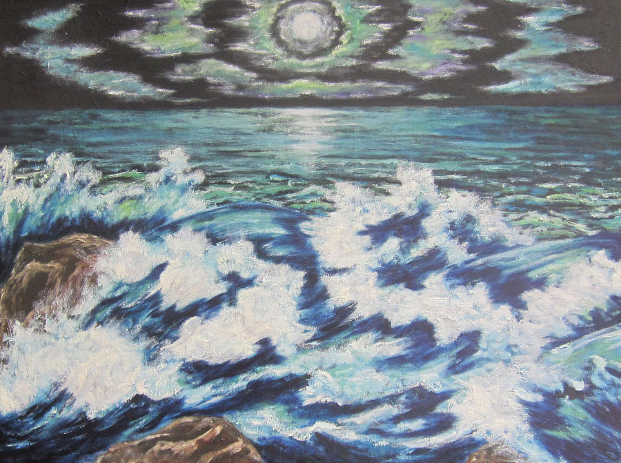 Moon Painting - At The Edge by Cheryl Pettigrew